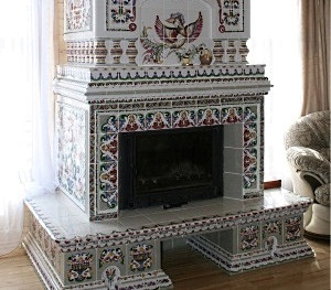 Камины дровяные из изразцов гриль шашлык барбекю